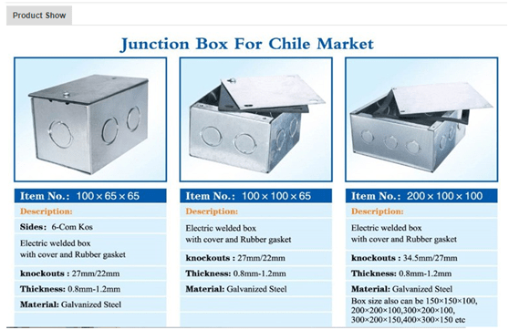Metal Junction Box For Chile Market-HG Precision