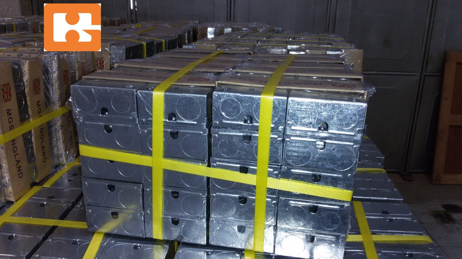 Steel metal junction box