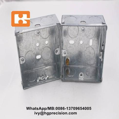 Sheet Metal Components Die For Rectangular Steel Electric Box