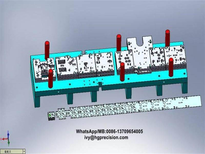 Metal Junction Box Full-automatic Stamping Die